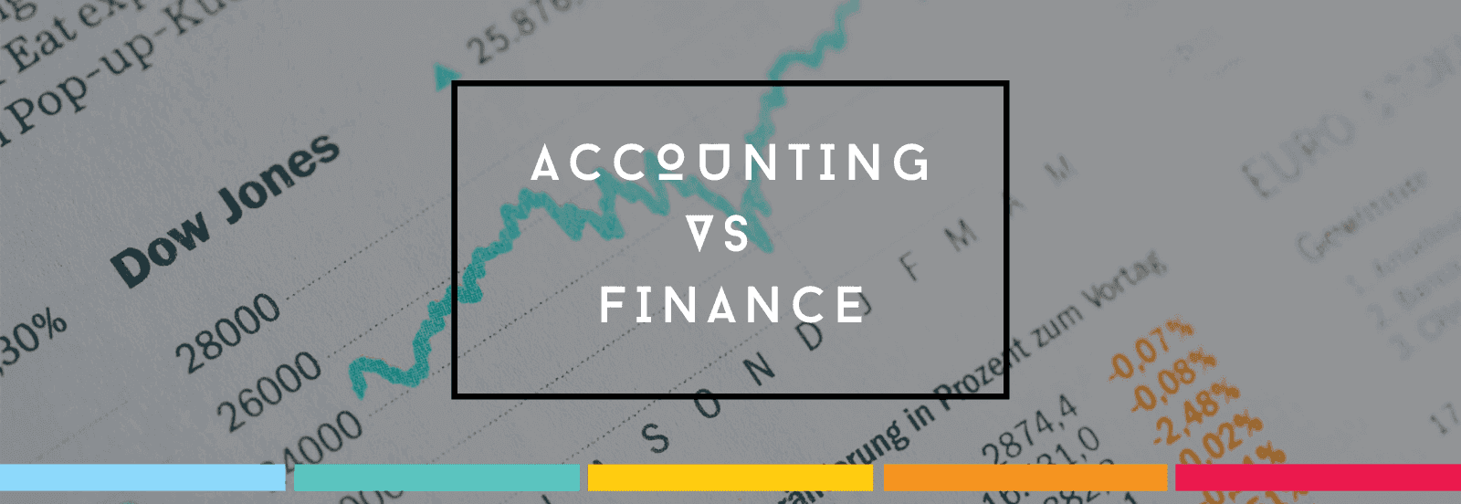 Accounting vs finance display version