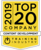 TrainingIndustry.com's 2019 Top 20 Companies in Content Development – for the ninth consecutive year.